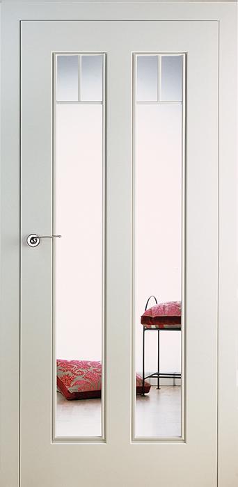 <b>PERLA PA 3.6</b><br>Weiss seidenmatt, <br>Glas Float klar