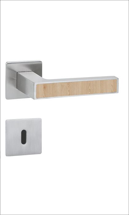 <b>Quadral Inlay</b><br>Edelstahl matt / Holzeinleger